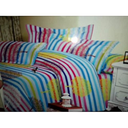 100% Cute Universal Bed-sheet And Duvet With 4 Pillow Cover