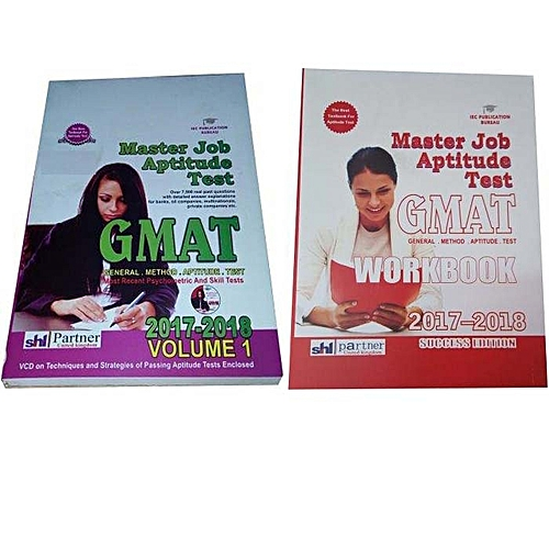 Generic Master Job Aptitude Test GMAT 2017 – 2018, Volume 1 And 2 Bundle.