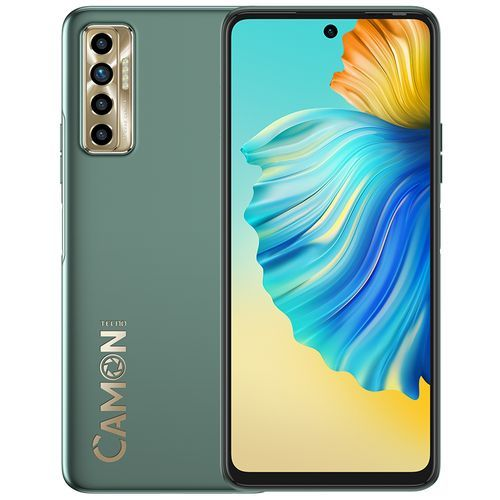 "Camon 17P (CG7) -6.8"" FHD+, 6GB RAM + 128GB ROM, 64MP Quad Rear + 16MP Selfie , 5000mAh, Android 11, 4G - Spruce Green"