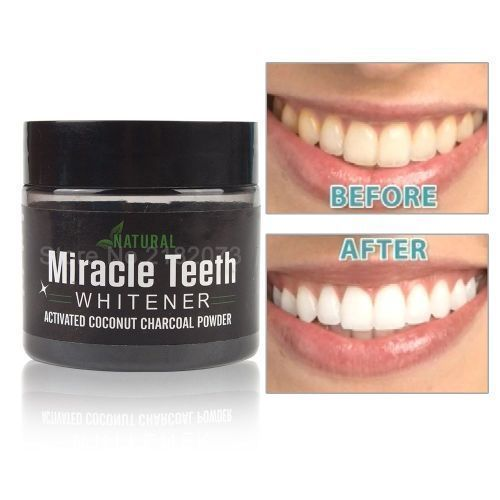 Activated Natural Teeth Whitener Coconut Charcoal Cleaner