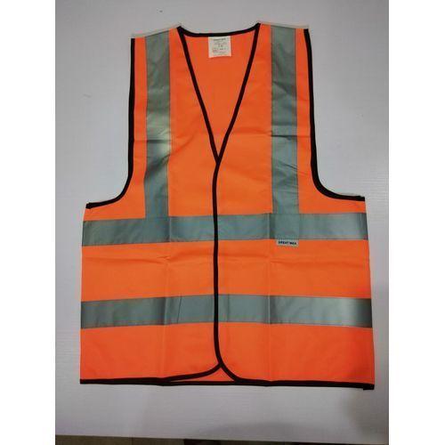 Reflective Safety Vest - Orange. By 4 Pieces