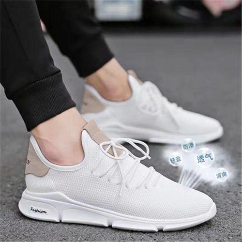 Men Smart Nice Fashion Comfortable Sneakers/Canvas - White