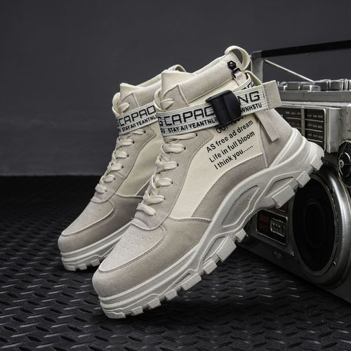 2021 Womens Casual High-Top Shoes Running Sneakers - Beige