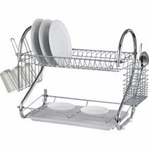 """16"""" Stainless Steel Dish Drainer With Cup And Cutlery Holder"""