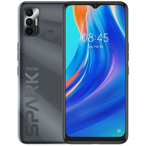 "Spark 7 (KF6i) 6.5"" HD+, 64GB ROM + 3GB RAM, 500mAh, 16MP Dual Camera + 8MP Selfie, Android 11, 4G, Fingerprint - Black"