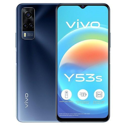Y53s, 6.58-Inch, 8GB RAM 128GB ROM Android 11 (64MP + 2MP + 2MP) + 16MP Dual SIM - Deep Sea Blue