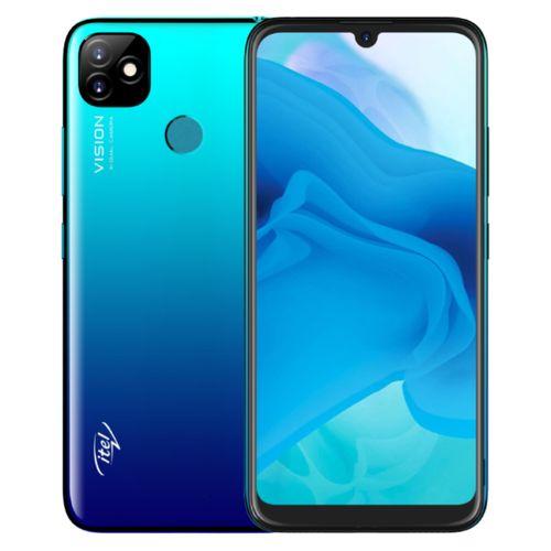 "P36 6.5"" HD+ (16GB ROM, 1GB RAM) Android 9 Pie, 5000mAh Battery 8MP + 8MP Camera, Fingerprint + Face ID - Blue"