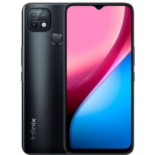 Hot 10i (PR652B) 6.52-Inch-HD+ (32GB ROM, 2GB RAM) 13MP Dual Camera+8MP Selfie Camera, 6000mAh Battery - Black