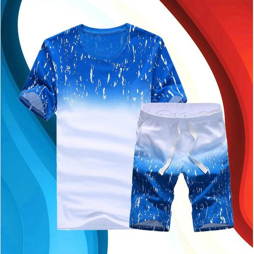 Fashion 2Piece Set Men's Short Sleeve T-Shirt & Shorts Set