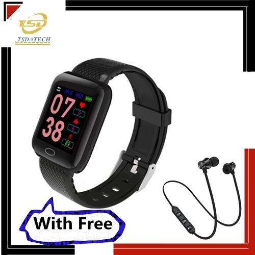 Color Screen Smart Bracelet D13 Waterproof Bracelet With Free XT11 Bluetooth Earphone
