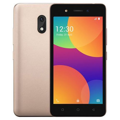 """A16 Plus 5.0"""" Screen Android 8.1, 1GB ROM + 8GB ROM, 5MP + 2MP, 2050mAh Dual SIM 3G - Gold With Free Case"""