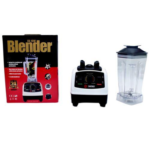 ELECTRIC BLENDER BLENDER. E-B 10W. 8-FIN SHARP STAINLESS STEEL BLADE. White