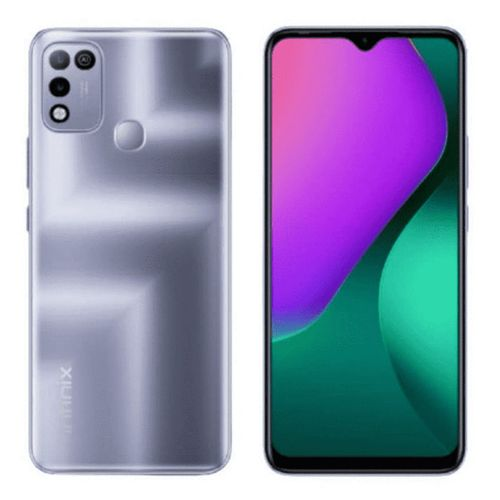 """Hot 10 Play (X688B) 6.82"""" HD+, 4GB RAM +64GB ROM, 6000mAh Battery, Android 10, 13MP Dual Camera, 4G, Fingerprint -Purple"""