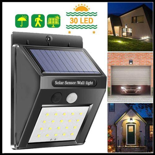 30 LED Solar Powered Wall Light Sensor Outdoor Security Lamp