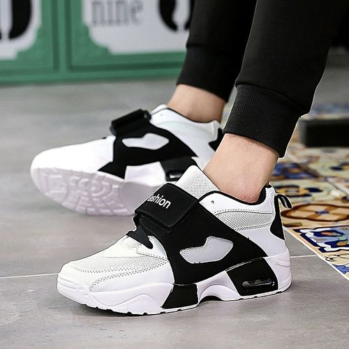 Men Sneakers Running Lace-up Outdoor Sport Shoes-white.