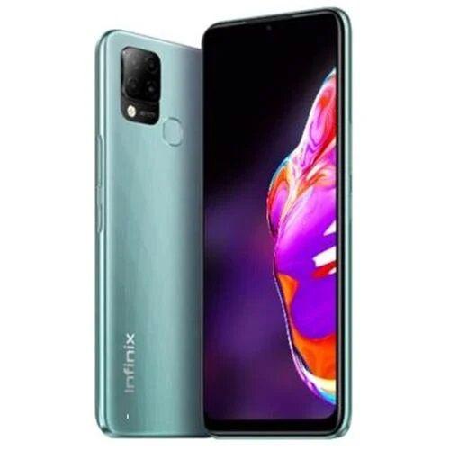 "Hot 10T (X689C) 6.82"" HD+, 4GB RAM + 64GB ROM, 48MP Triple Rear Camera, 5000mAh, Android 11, 4G, Fingerprint - Green"