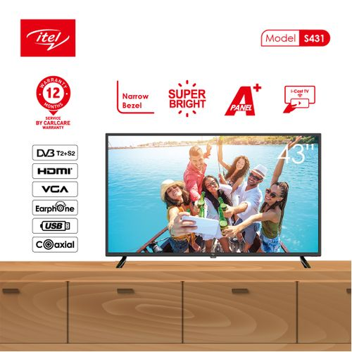 """43"""" Inch Inches S431 Satellite ICast FHD TV (With Over Voltage Protection)"""