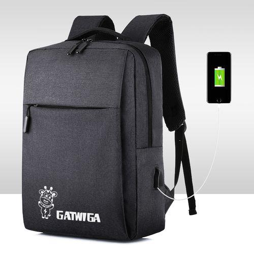 Black Casual Bag Business Laptop Backpack