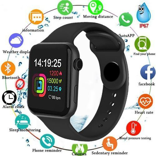 Smart Watches Waterproof Heart Rate Watch Sports Watches