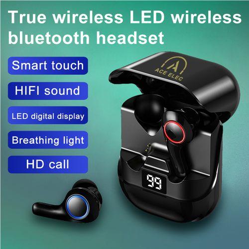 PT08 True Wireless Bluetooth 5.0 Earphones 9D Stereo Headsets Ergonomic Design