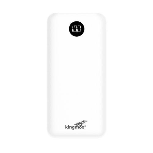White-Power Banks 10000 MAh LCD External Battery Backup