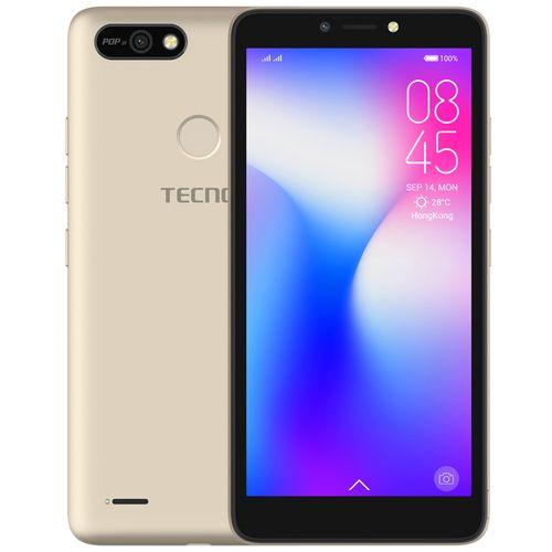 "POP 2F (B1G) 5.5"" Android 8.1, 16GB ROM + 1GB RAM, 8+5MP Beauty Camera, Fingerprint, Face ID, 2400mAh Battery - Gold"
