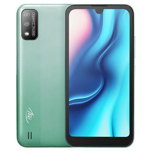 """A37 5.7"""" HD+ Waterdrop Screen, 1GB RAM + 16GB ROM, Android 10, 3020mAh Battery, 5MP Camera, Face ID - Green + Free Case"""