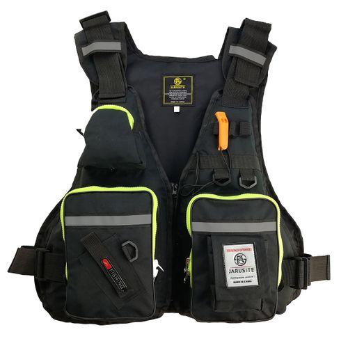 Adult Adjustable Life Jacket Kayak Reflective Sailing Black