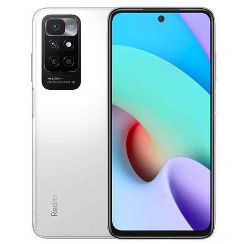 "Redmi 10 - 6.5"" - 4GB RAM - 128GB ROM - (Main Camera: 50MP, Selfie: 8MP) - Dual Sim - 4G LTE - 5000mAh - Pebble White"