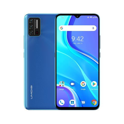 A7S, 2GB+32GB, Face Identification, 6.53 Inch Android 10, Network: 4G, OTG(Sky Blue)