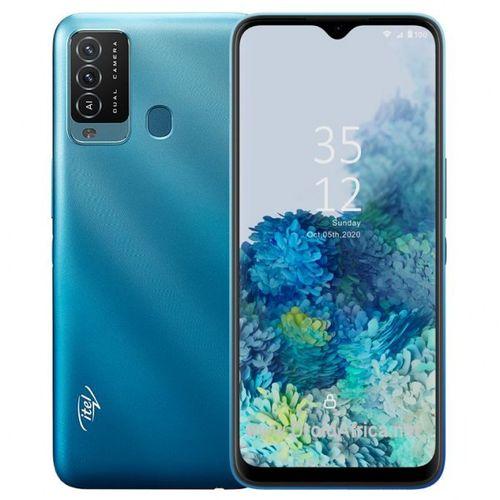 """P37 6.5"""" HD+ Screen, 2GB RAM + 32GB ROM, 5000mAh - Android 10, 8MP Dual Rear Camera, Fingerprint & Face ID -DEEP BLUE"""