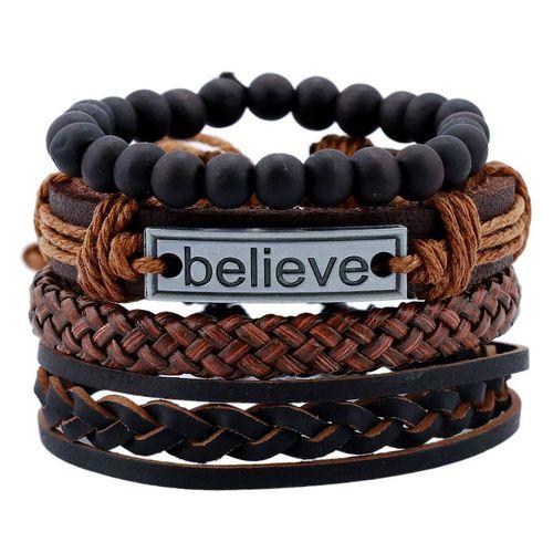 4 In 1 Adjustable Hand Bracelets - Believe