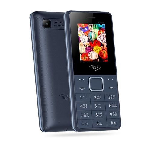 2160 Wireless FM, Bright Torch, Call Recorder, Dual SIM Mobile - Blue