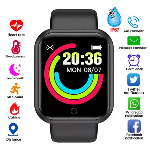 Smart Bracelet HD Color Touchscreen With Heart Rate Monitor
