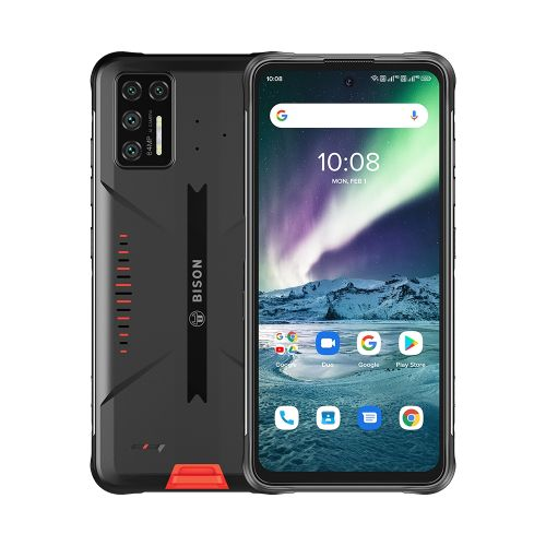BISON GT Rugged Phone 64MP Camera 8GB+128GB 5150mAh Battery 6.67 Inch Android 10 4G Smartphone - Orange