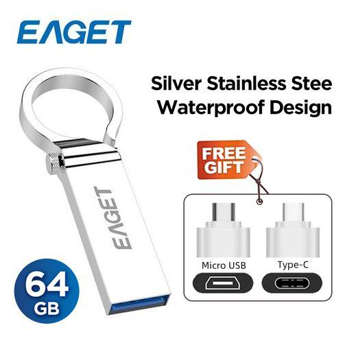Pen Flash Drive 3.0 64GB - Metal OTG Micro USB Type-C