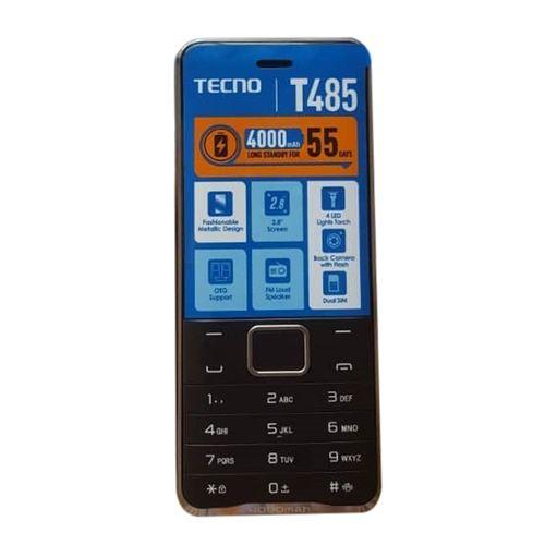 """T485, 2.8"""" Display,FM Loud Speaker, 4000mAh - Black"""