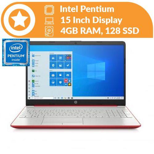 15 Intel Pentium Gold 4GB RAM,128 SSD Windows 10 + FREE 16GB Flash Drive