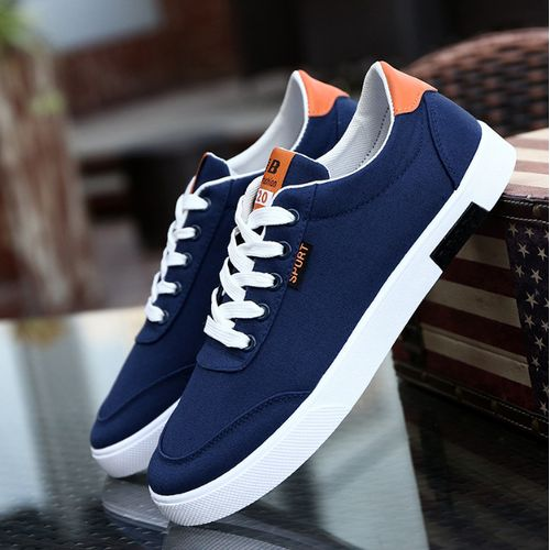 Men's Canvas Breathable Sports Casual Running Shoes -blue