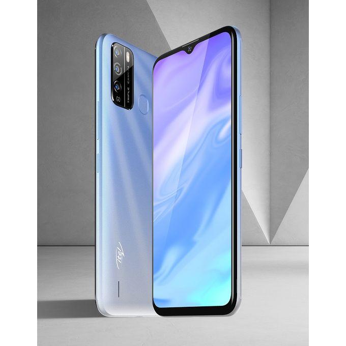 "product_image_name-Itel-S16 6.5"" HD FullScreen, 16GB ROM + 1GB RAM, Android 10, 4000mAh, 8MP Triple Rear Camera, Face ID & Fingerprint - Blue-2"