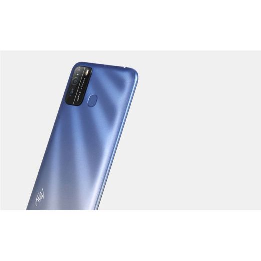 "product_image_name-Itel-S16 6.5"" HD FullScreen, 16GB ROM + 1GB RAM, Android 10, 4000mAh, 8MP Triple Rear Camera, Face ID & Fingerprint - Blue-3"