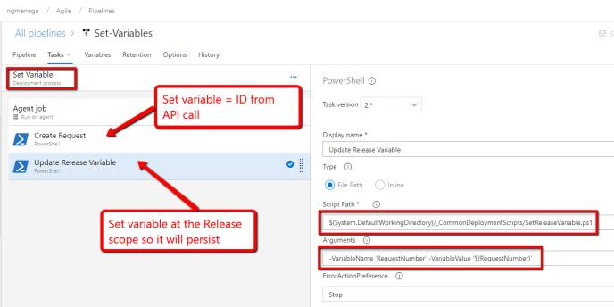 Azure DevOps Pipelines – Set Release Variables Using Release