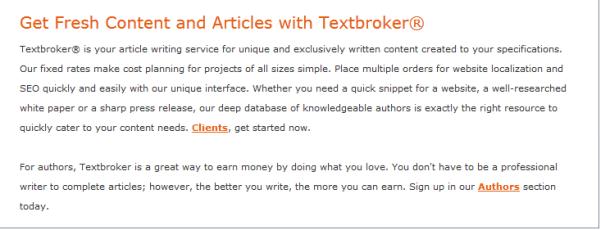 Hướng Dẫn Dịch Vụ Mua Bài Viết Tại Textbroker