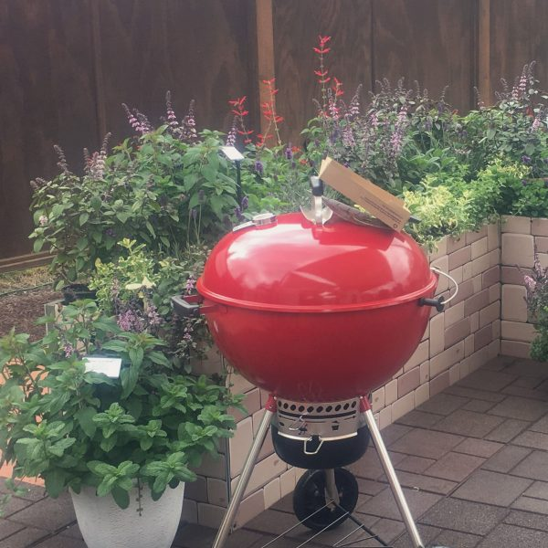 Grillscaping with pollinator-friendly plants. is planting herbs, vegetables and flowers you can use in your meals and drinks right next to and around where your grill is located. - National Garden Bureau