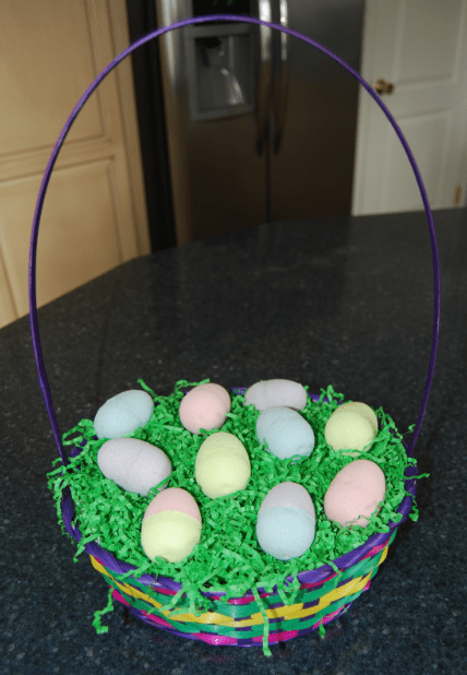 Easter bath fizzy basket