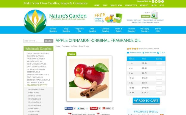 apple cinnamon original page