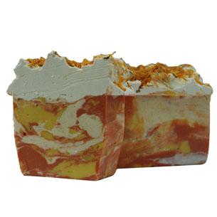 Calendula Skin Care Recipes:Calendula Swirl Soap Recipe