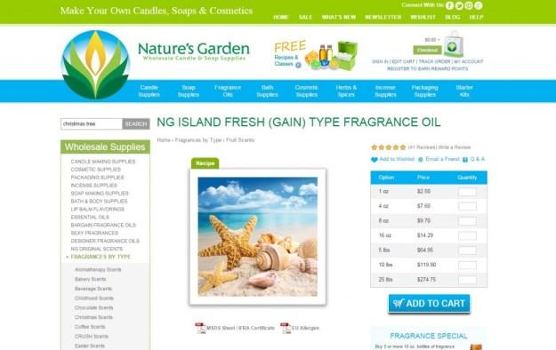 island fresh page