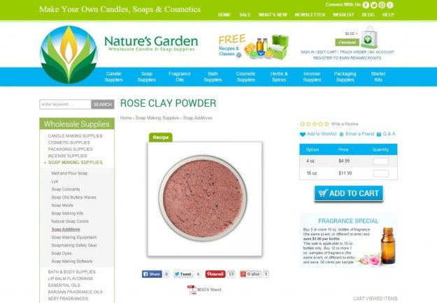 rose clay page