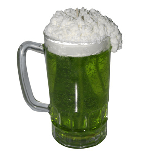 Crafts for St. Patrick's Day Green Beer Candle Recipe